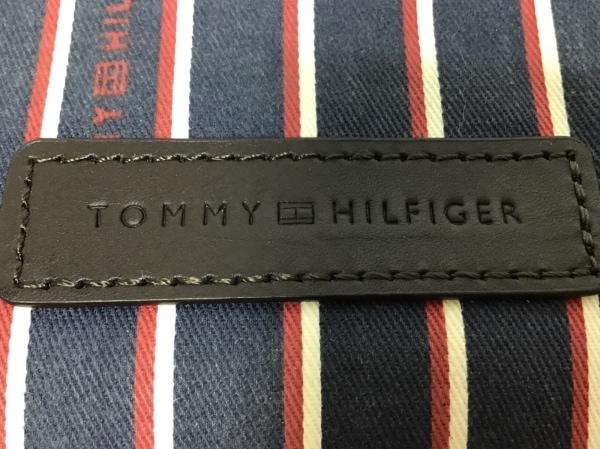トミーヒルフィガー ワンショルダーバッグ ネイビー×ダークブラウン ナイロン