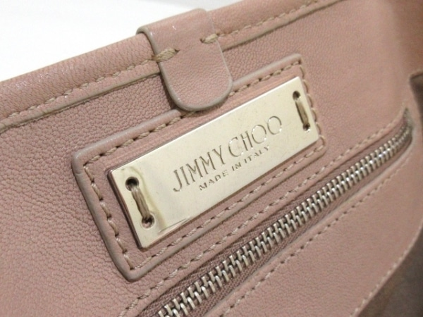 JIMMY CHOO(ジミーチュウ) トートバッグ サシャ ピンク スター/スタッズ レザー