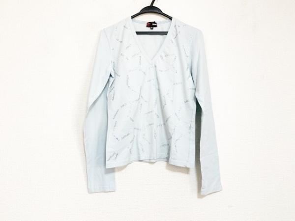ヴェルサーチスポーツ 長袖Tシャツ サイズXL レディース美品  ライトブルー
