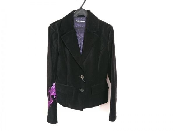 VIVIENNE TAM(ヴィヴィアンタム) ジャケット サイズ1 S レディース 黒 ベロア