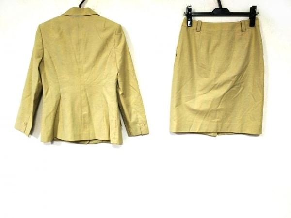 TAE ASHIDA(タエアシダ) スカートスーツ サイズ7 S レディース美品  ベージュ×グレー