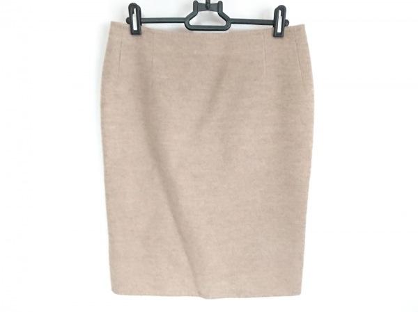 Kiton(キートン) スカート サイズ40 M レディース美品  ライトブラウン カシミヤ
