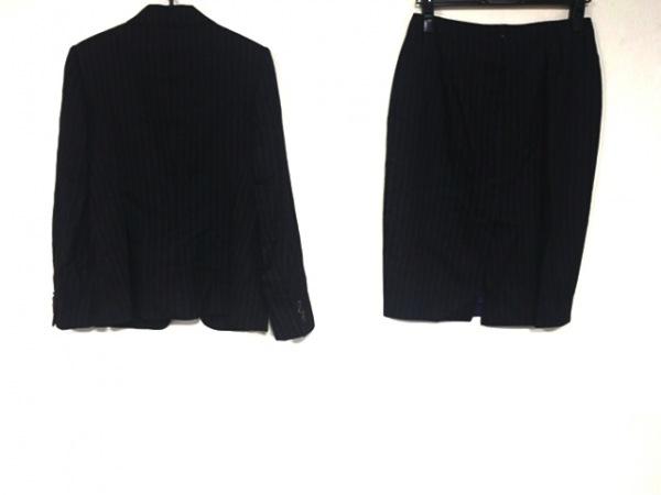 キートン スカートスーツ サイズ40 M レディース美品  黒×パープル ストライプ