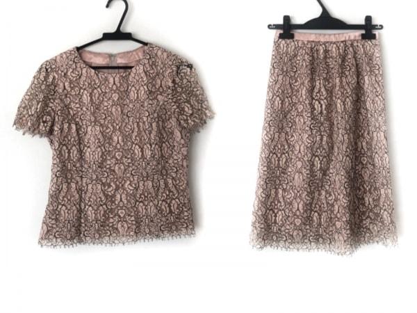 Leilian(レリアン) スカートセットアップ サイズ7 S レディース美品  ピンク×黒