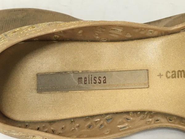 melissa(メリッサ) フラットシューズ 5 レディース ベージュ campana/ラメ ラバー