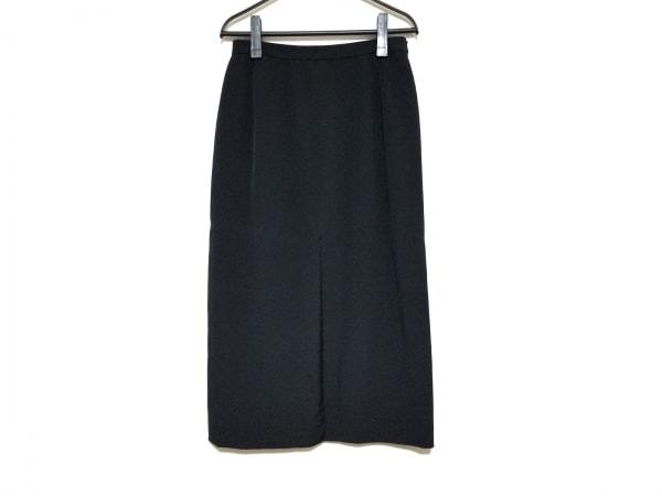Leilian(レリアン) ロングスカート サイズ11 M レディース美品  黒 シルク