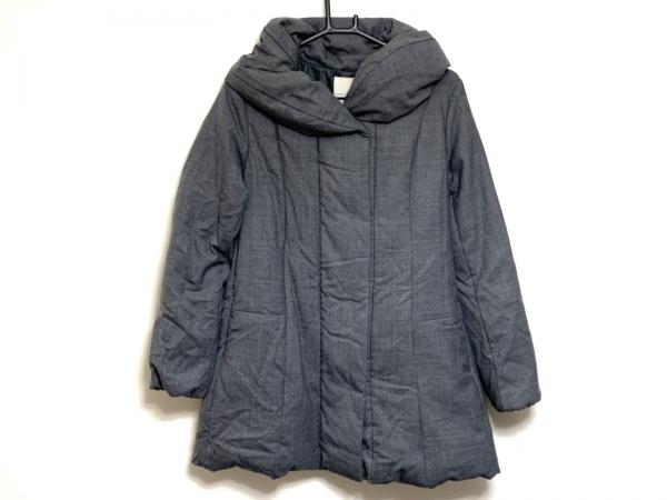 自由区/jiyuku(ジユウク) ダウンコート サイズ40 M レディース美品  グレー 冬物