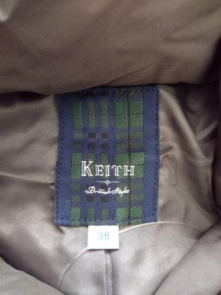 KEITH(キース) ダウンコート サイズ38 M レディース美品  ダークグレー ファー/冬物