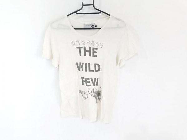 Devastee(ディバステ) 半袖Tシャツ サイズ38 M レディース アイボリー×ダークグレー