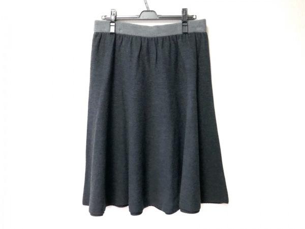 SONIARYKIEL(ソニアリキエル) スカート サイズ46 XL レディース ダークグレー×グレー