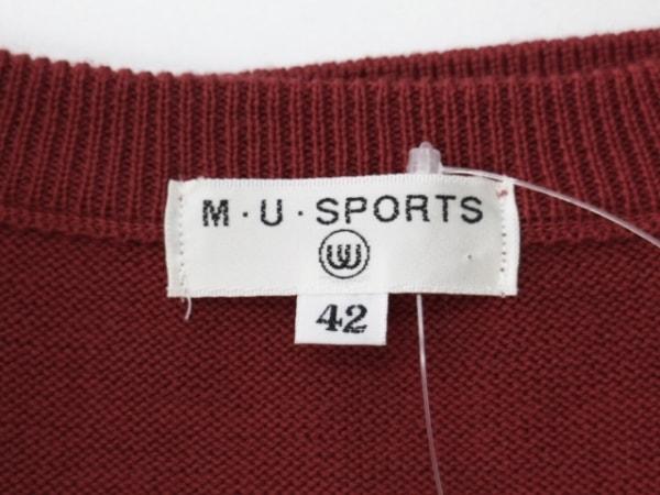 M・U・ SPORTS(ミエコウエサコ) ベスト サイズ42 L レディース レッド×アイボリー