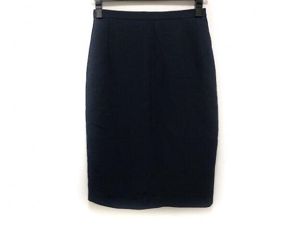 FENDI(フェンディ) スカート サイズ40 M レディース - - ネイビー ひざ丈