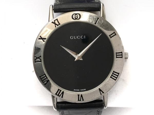 GUCCI(グッチ) 腕時計 - 3000M メンズ 黒