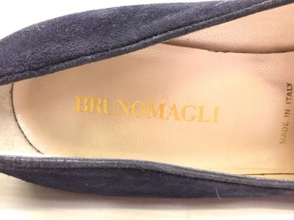 BRUNOMAGLI(ブルーノマリ) パンプス 35 レディース ネイビー ウェッジソール スエード