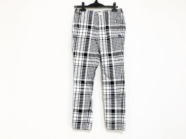 PEARLY GATES(パーリーゲイツ) パンツ サイズ0 XS レディース 白×黒 チェック柄