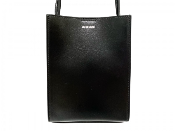 JILSANDER(ジルサンダー) ショルダーバッグ美品  TANGLE SM 黒 ミニバッグ レザー