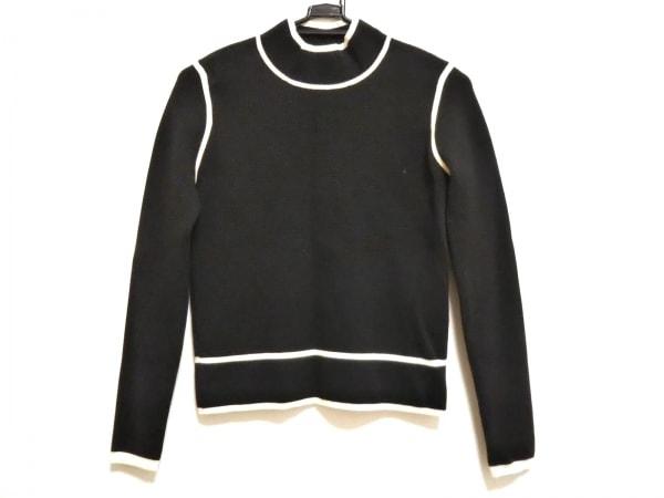 エポカザショップ 長袖セーター サイズ40 M レディース美品  黒×白 ハイネック
