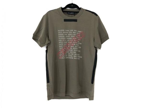 ドルチェアンドガッバーナ 半袖Tシャツ サイズ50 M メンズ美品  カーキ×マルチ