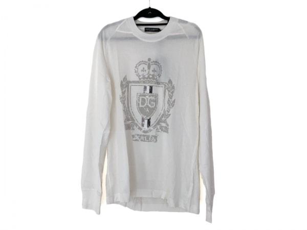 ドルチェアンドガッバーナ 長袖Tシャツ サイズ50 M メンズ美品  白×グレー