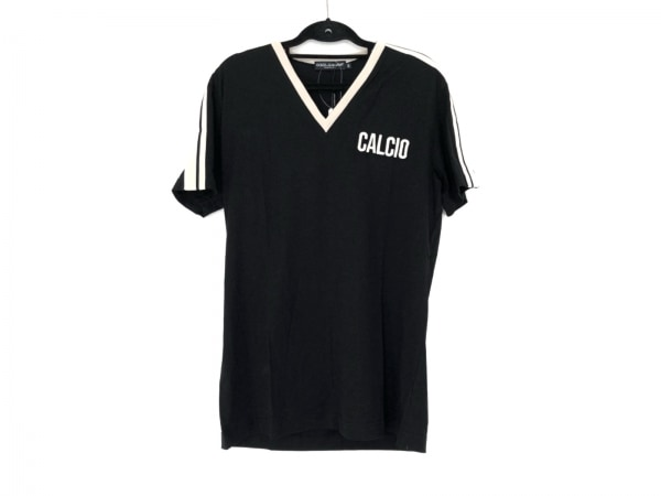 ドルチェアンドガッバーナ 半袖Tシャツ サイズ50 M メンズ美品  黒×ライトベージュ