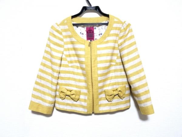 ドーリーガール ジャケット サイズ2 S レディース美品  - - イエロー×アイボリー