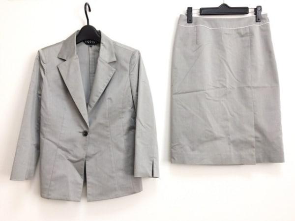 INDIVI(インディビ) スカートスーツ サイズ40 M レディース グレー