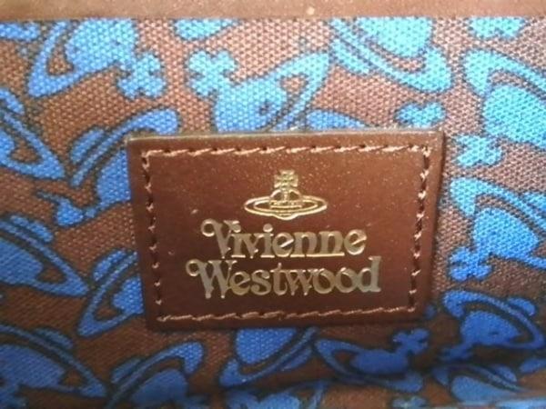 VivienneWestwood(ヴィヴィアンウエストウッド) 長財布 ダークブラウン がま口 レザー