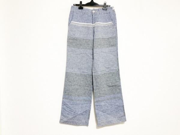 パラスパレス パンツ サイズ3 L レディース ライトブルー×グレー×白 ボーダー