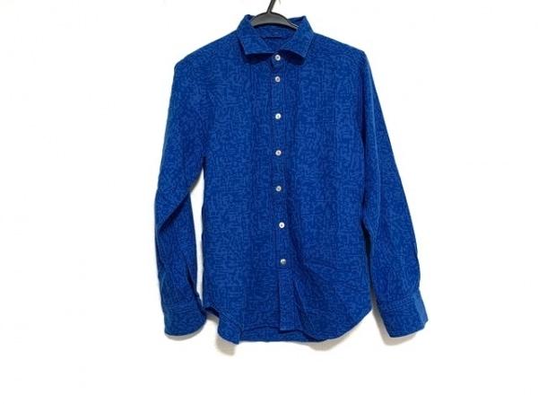 フォーティーファイブ・アール 長袖シャツブラウス サイズ2 M レディース美品  ブルー