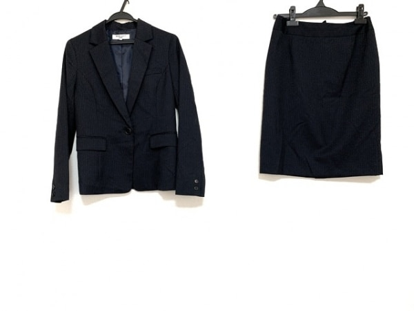 ナチュラルビューティー ベーシック スカートスーツ レディース 黒×ベージュ