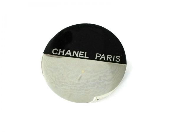 CHANEL(シャネル) ブローチ美品  プラスチック×金属素材 黒×シルバー