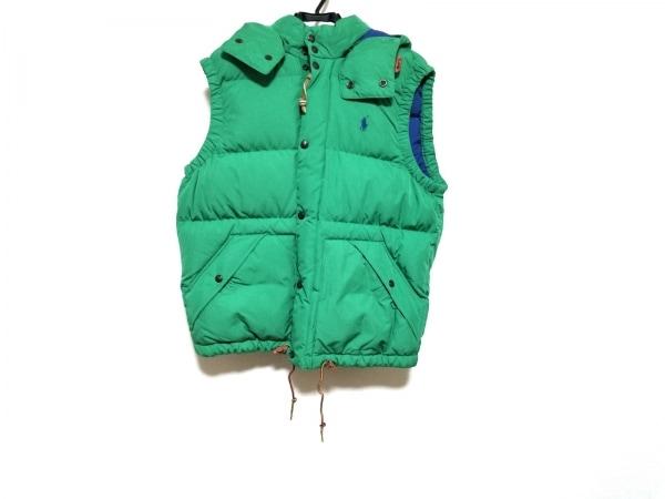 ポロラルフローレン ダウンベスト サイズM/175/96A メンズ美品  グリーン 冬物