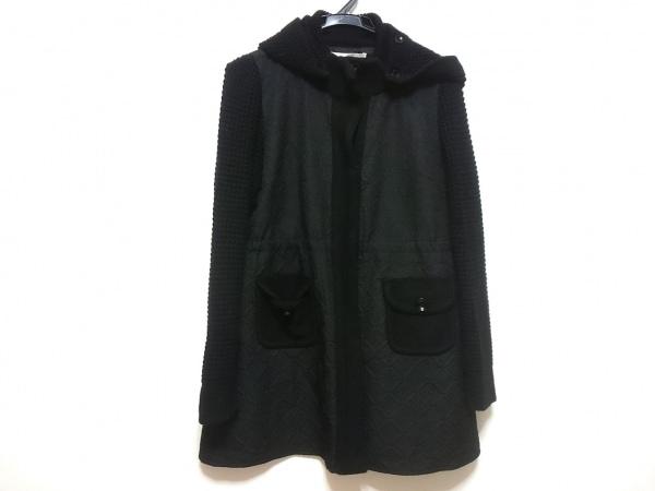 SUPERBEAUTY(スーパービューティー) コート レディース 黒 袖ニット/冬物