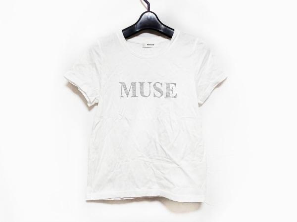Mystrada(マイストラーダ) 半袖Tシャツ サイズ38 M レディース 白×シルバー ラメ