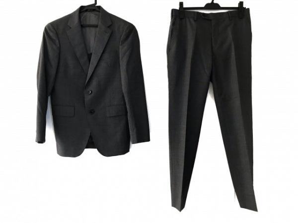 COMME CA MEN(コムサメン) シングルスーツ サイズS メンズ ダークグレー