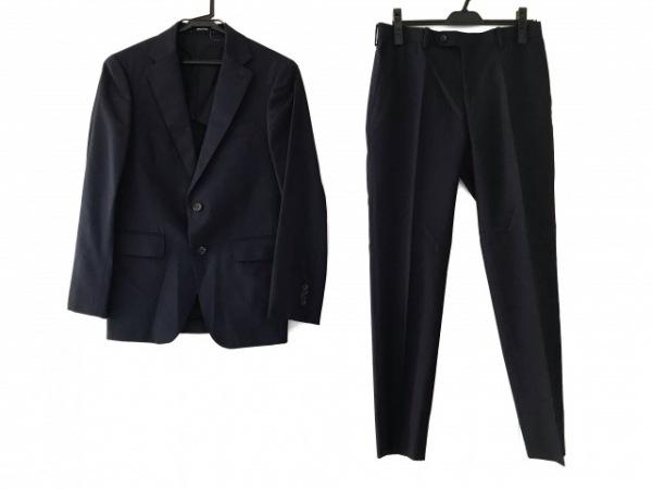 COMME CA MEN(コムサメン) シングルスーツ サイズS メンズ ダークネイビー ストライプ