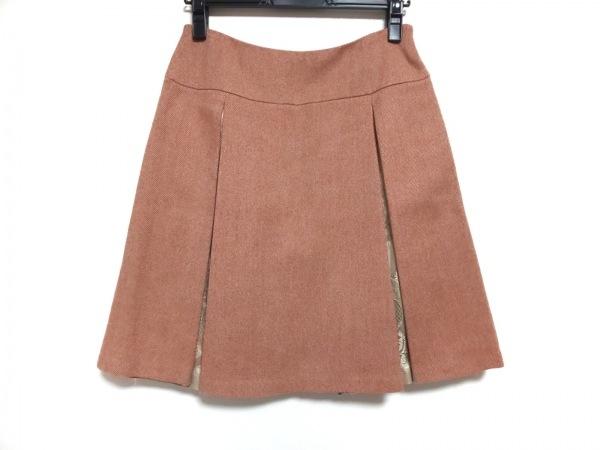ロイスクレヨン スカート サイズM レディース美品  オレンジ×ベージュ レース