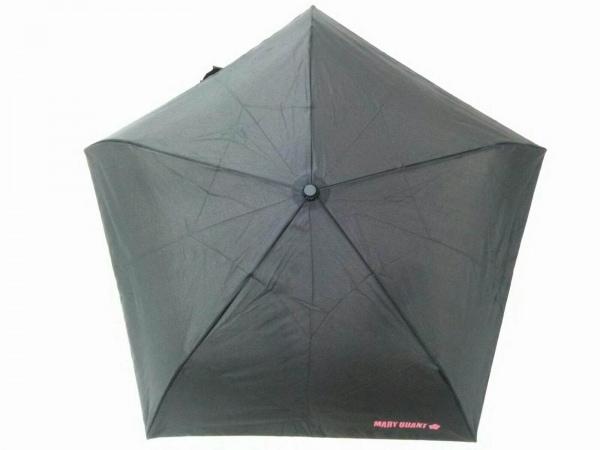 MARY QUANT(マリークワント) 折りたたみ傘美品  黒 化学繊維 1