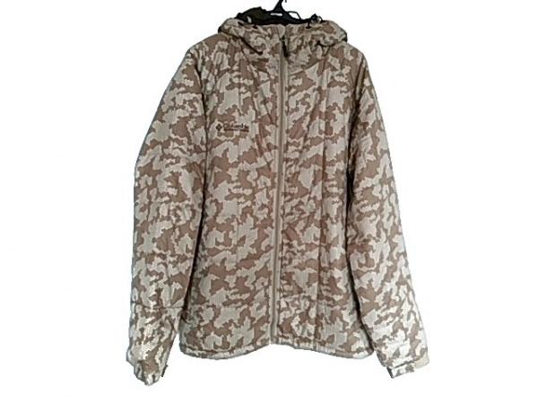 columbia(コロンビア) ダウンジャケット サイズXL メンズ美品  白×ベージュ 冬物