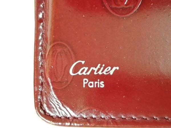 Cartier(カルティエ) 長財布 ハッピーバースデー ボルドー エナメル(レザー)