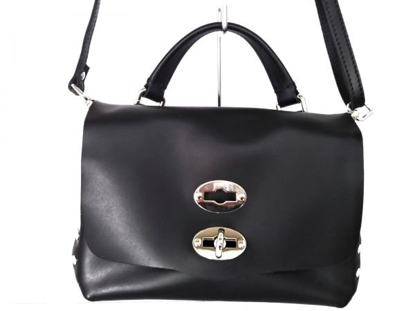 ZANELLATO(ザネラート) ハンドバッグ美品  ポスティーナ 黒 ミニサイズ レザー
