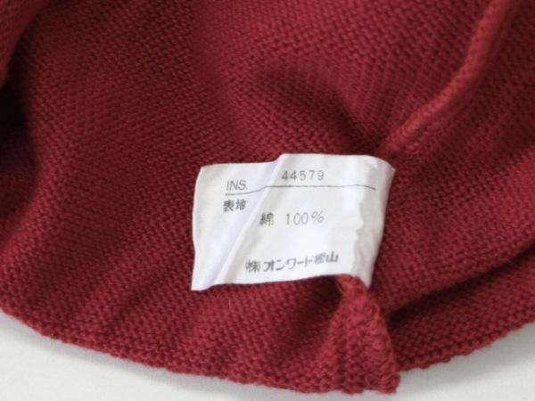 HANAE MORI(ハナエモリ) ベスト サイズM レディース レッド×白 ニット