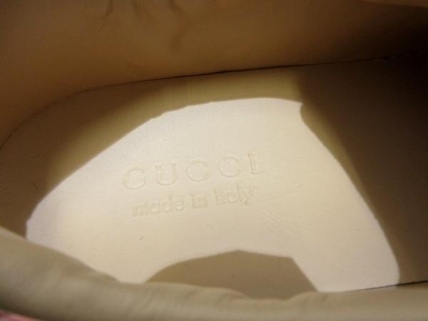 グッチ スニーカー 7 1/2 レディース美品  シェリー 刺繍/フラワー 5