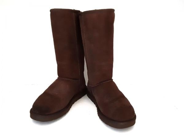 UGG(アグ) ブーツ 7 レディース クラシックトール 5815 ブラウン ムートン