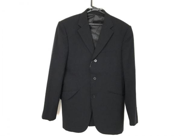 タケオキクチ ジャケット サイズ2 M メンズ 黒×ダークネイビー ストライプ