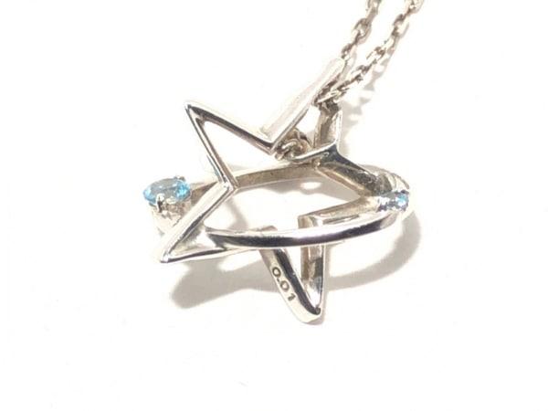 スタージュエリー ネックレス シルバー×ダイヤモンド×ブルートパーズ ライトブルー