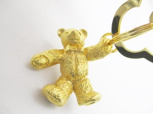 ミキモト キーホルダー(チャーム)美品  - ゴールド キーリング/クマ 金属素材