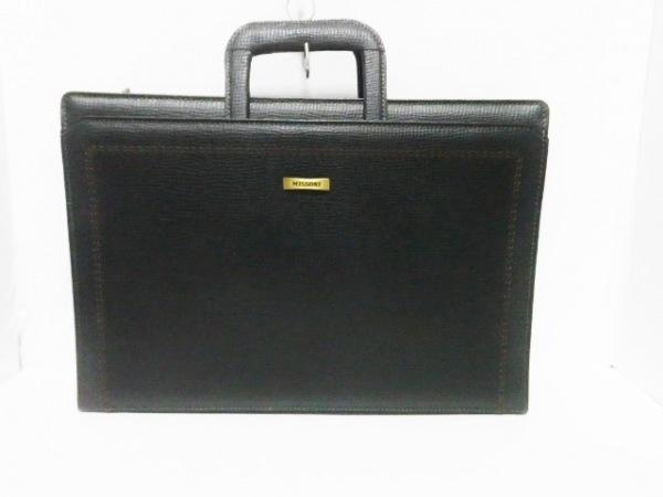 MISSONI(ミッソーニ) ビジネスバッグ 黒 レザー