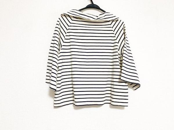 Y's(ワイズ) 七分袖カットソー サイズ2 M レディース美品  白×ネイビー ボーダー