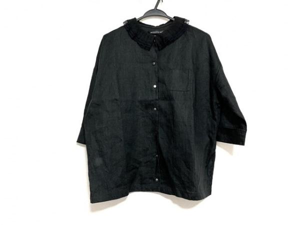 mizuiro  ind(ミズイロインド) 七分袖シャツブラウス レディース美品  黒
